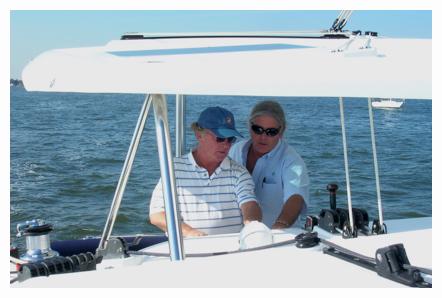 Sailing lessons on a catamaran